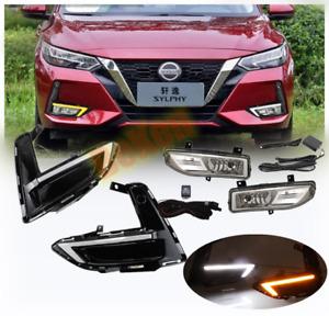 For Nissan Sentra 2020 21 LED DRL Daytime running lights with bulbs k Kit