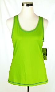 NWT Asics Women Lime Green Reflective Athletic Tank Top Medium Hydrology No Bra