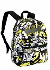 Batman Comics Backpack All Over Print + Batman Keychain Backpack Charm