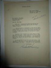 Herbert Hoover - 31st U.S. President - Signed Letter , 1947