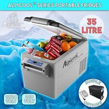 Alpicool 35L Portable 2 Compartment Compressor Fridge Freezer Car Cooler DC 12V
