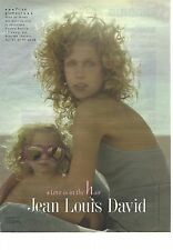 """PUBLICITE ADVERTISING   2003  JEAN LOUIS DAVID coiffeur """"love is in the hair"""""""