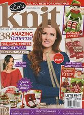 LET'S KNIT Magazine #74 December 2013,ONLY MAGAZINE Essential Knits BOOK MISSING