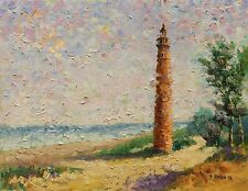 Little Sable Point Lighthouse Pentwater Michigan Beach Seascape impression Haigh