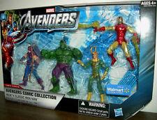 "Avengers Comic Series Box Set__HULK_Classic IRON MAN_HAWKEYE_LOKI 3.75 "" figures"
