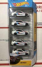 2018 Hot Wheels 50th Anniversary CAR MEET 5 Pack BMW M3 Lot of 5