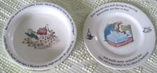 """Wedgwood Peter Rabbit 6.75"""" Plate and 6.5"""" Bowl Made in England"""