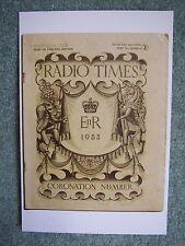 New Postcard Vtg Radio Time cover May-June 1953 Coronation Queen Elizabeth II UK