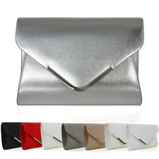 6a81f2db51 Womens Clutch Bag Envelope Ladies Bridal Bridesmaid Prom Party Evening  Handbag