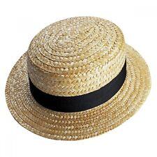 Straw Boater Hat - School Fancy Dress - Dance Costume