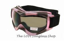 Premium Cool PINK / Smoke Wolf Snowboard Ski Goggles ANTI FOG SHATTERPROOF g30p