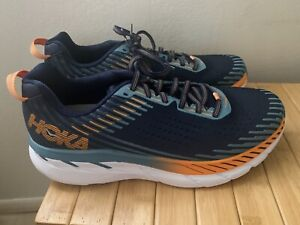 Men's Hoka One One Clifton 5 Running Shoes Sz 11
