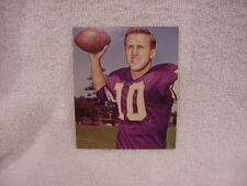 ULTRA RARE 1964 Kahn's Weiners Fran Tarkenton Card, Minnesota Vikings, NICE!