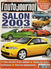 L'AUTO JOURNAL 2002 599 SALON DE L'AUTOMOBILE 2003 TOUTES LES VOITURES DU MONDE