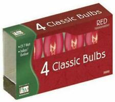 Noma/Inliten-Import 1095R-88 C9 Red Bulb, 4-Pack