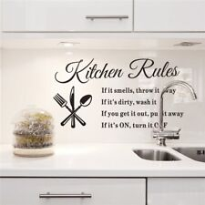DIY Removable Kitchen Words Wall Stickers Decal Home Decor Vinyl Art Mural