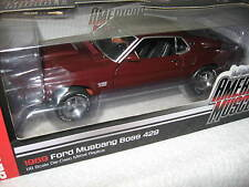 1969 FORD MUSTANG BOSS 429 AUTO WORLD ERTL 1:18 A VERY RARE DIECAST MODEL CAR