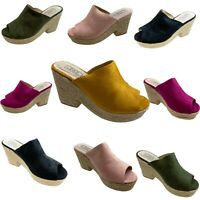 Ladies Espadrilles Slip On Casual Holiday Wedges Sandals  New Size 3-8 SALE SALE