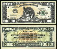 2002 Reissue of IAM Million Dollar Bill Collectible Funny Money Novelty Note