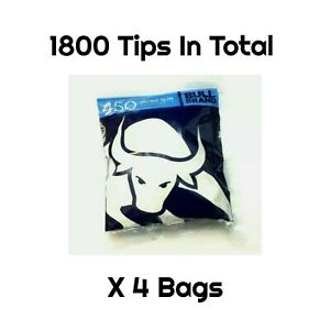 1800 Tips (4 x 450) Bull Brand Micro Slim Filter 4.6mm Rolling Not Swan Filters
