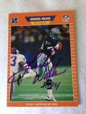 Herschel Walker VINTAGE HAND SIGNED 1989 ProSet Card w/COA Stock #2
