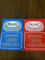24 Decks(2 Colors)Palm's Casino Las Vegas Playing Cards. Used in Casino.