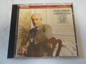 GUSTAV LEONHARDT : Clavichord Recital (Bach, Ritter)  > VG++ (CD)
