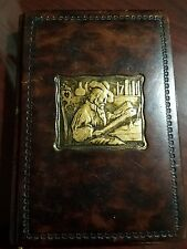 Collectible leather bound Gilded Leonardo Journal by Fiorentina, Italy
