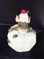 Charming Tails Snow Angels Lidded Box 93/583 Mouse