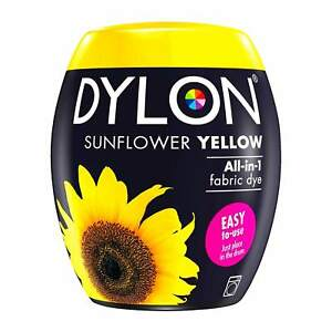 DYLON Textilfarbe Sunflowers Yellow Color And Fixer for 21.2oz Fabric Dye