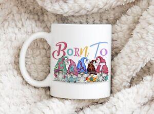 Born To Craft Gonk Mug Cup Gift Novelty Personalised Birthday Christmas Present
