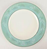 Vintage Romance HOMER LAUGHLIN Cavalier Eggshell Turquoise Silver Dinner Plate