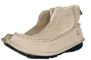 CROCS Crocassin Tan Suede Faux fur Lined Ankle Boots Men's 7 - Women's 9