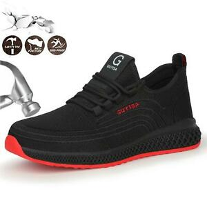 Breathable Mens Womens Safety Shoes Boots Steel Toe Cap Lightweight Work Sneaker