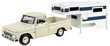 Motormax 1966 Chevy C10 Fleetside Pickup / Truck Camper 1:24 (No.75200) 73355