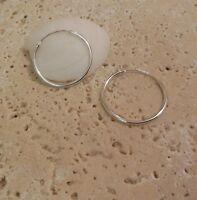 """Sterling Silver 925 7/8"""" inch HOOP Earrings A Great Gift Idea!"""