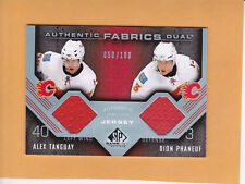 ALEX TANGUAY PHANEUF 2007 08 SP GAME USED SP 100 DUAL JERSEYS # AF2-AD FLAMES