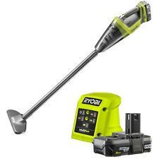 Ryobi 18V One+ Hand Vacuum Kit  2.0Ah Battery, 1.5A Charger, Stick Attachment