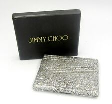 Nwot Jimmy Choo Silver and Gold-tone Glitter Compact Dual Mirror Os