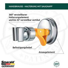 Duschkopf Halter Handbrausehalterung Bedet Halter 360° drehbar mit Saugnapf