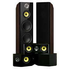 Signature Series Surround Sound Home Theater 5.0 Channel Speaker System - Walnut