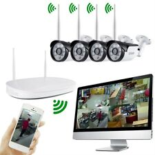 4CH 720P Wifi Wireless Outdoor Home Surveillance Video Security Camera System