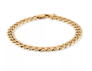 NWT Esquire Stainless Steel Curb Link Ion Plated Chain Bracelet $175.00