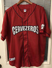 Vintage Russell Athletic Baseball Jersey #2 Sz L Cervezeros Red Beer WPL7232