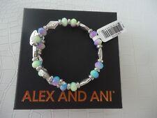 Alex and Ani ISLANDER WRAP Bangle Bracelet Russian Silver New W/Tag Card & Box