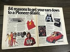 1979 VINTAGE 2 PG PRINT AD for PIONEER CAR STEREOS HAVE AN EARGASM RED VW BUGGY