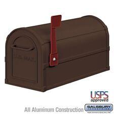 """Salsbury Antique Rural Mailbox - Bronze-MAILBOX 4850A-BRZ 7.5"""" x 9.5"""" x 20.5"""""""