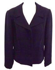 LOUDEN Women's Blazer Jacket, Size 4, Black Suit Coat MADE IN CANADA