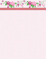 Love Pink Floral Stationery Printer Paper 26 Sheets