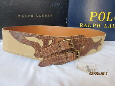 New Ralph Lauren Women Equestrian  Leather Belt M COWGIRL  $$$$